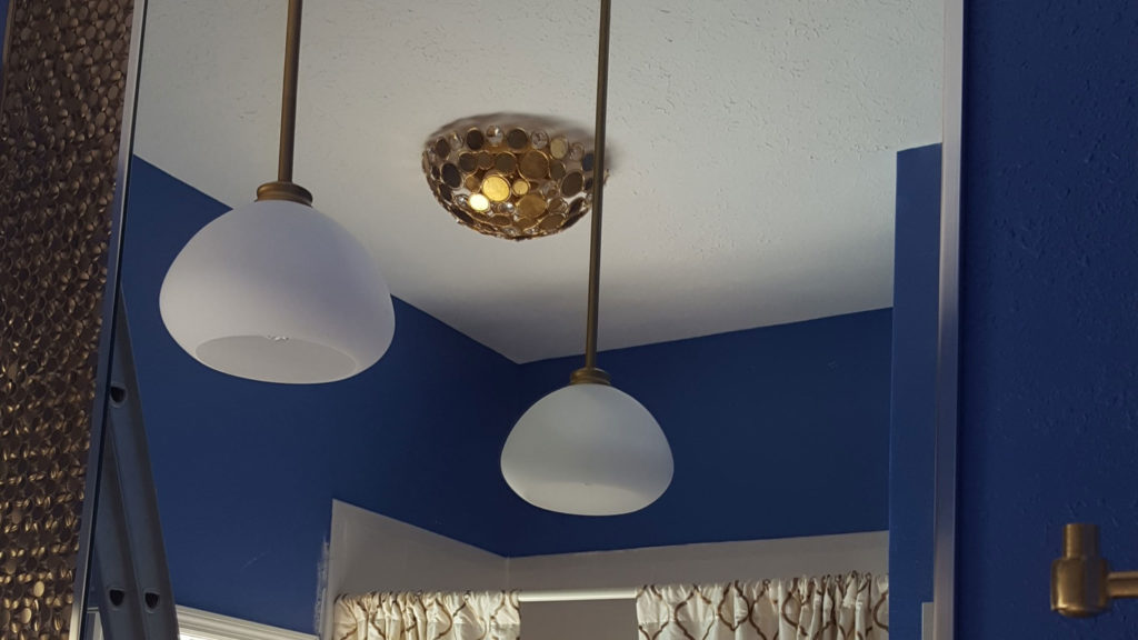 Contemporary lighting as part of interior design service in New Tampa