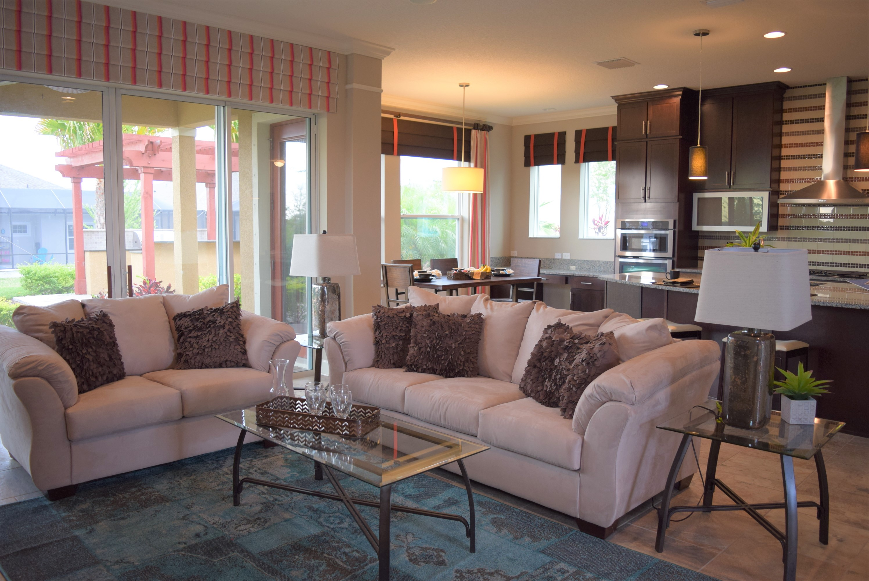 Living Room Staging for Realtors and Builders in Tampa